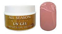 Гель All Season 15 мл бежево-розовый камуфляж