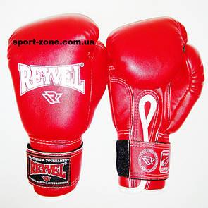 Перчатки для бокса Reyvel винил (искусственная кожа) 6 oz (унций) красный