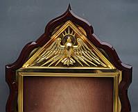 Киот фигурный с золоченным резным голлубем и рамой, фото 10