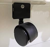 Меблевий ролик з U-подібним кріпленням GIFF MOBILI D=40 ЧОРНИЙ, фото 1