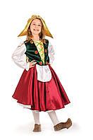 Детский карнавальный костюм для девочки «Герда» 115-125 см, красный и зеленый, фото 1