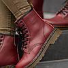 """Мужские зимние ботинки Dr.Martens """"Maroon"""", фото 8"""
