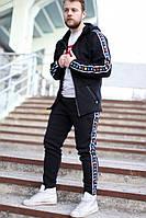 Зимние мужские спортивные штаны Kappa Black Colored (реплика)