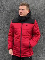 Куртка мужская зимняя спортивная до -25*С в стиле Nike X-red / пуховик