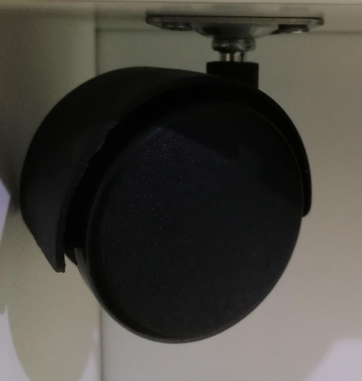 Меблевий ролик з майданчиком GIFF MOBILI D=40/50 ЧОРНИЙ