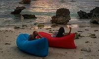 Ламзак, надувной лежак, надувной диван lamzac - красный, фото 3