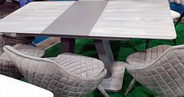 Стол обеденный DAOSUN DT 8104, серый камень
