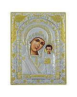 Икона серебряная Божией Матери Казанская 150 мм х 200 мм