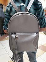Сумка женская Sambag Рюкзак городской для женщин Серый Искусственная Кожа Размеры в ассортименте (4892361)