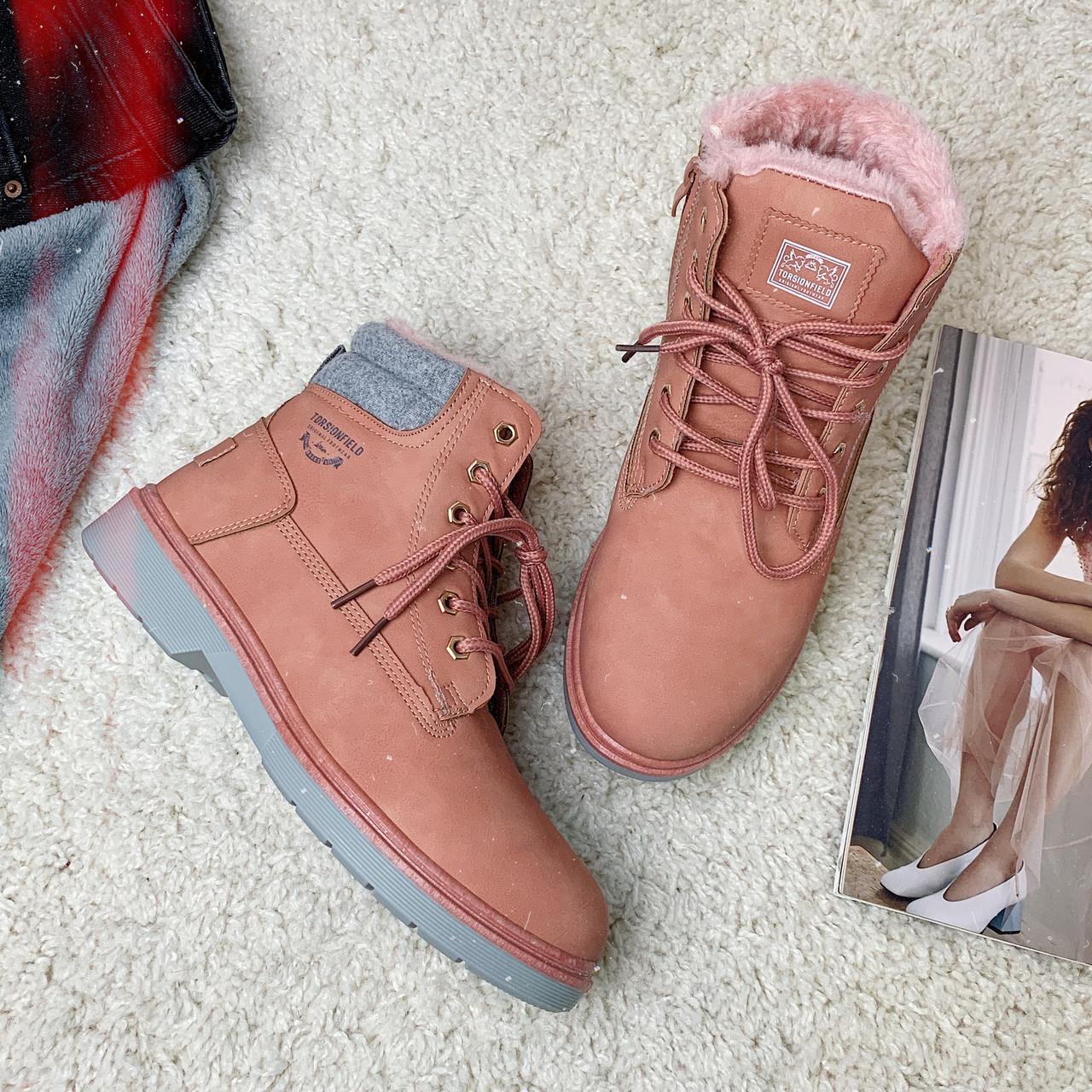 Ботинки зимние женские Dual /розовые, 36-41, dr-092/