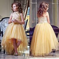 Комплект золотой топ+юбка zironka