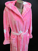 Махровые длинные халаты с капюшоном, фото 1