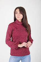 Теплый свитер с имитацией под гольф