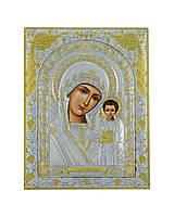 Икона серебряная Божией Матери Казанская 175 мм х 225 мм, фото 1