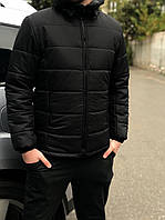Куртка мужская зимняя короткая до -25*С X-black / пуховик с капюшоном