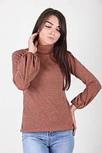 Коричневый свитер из теплого трикотажа