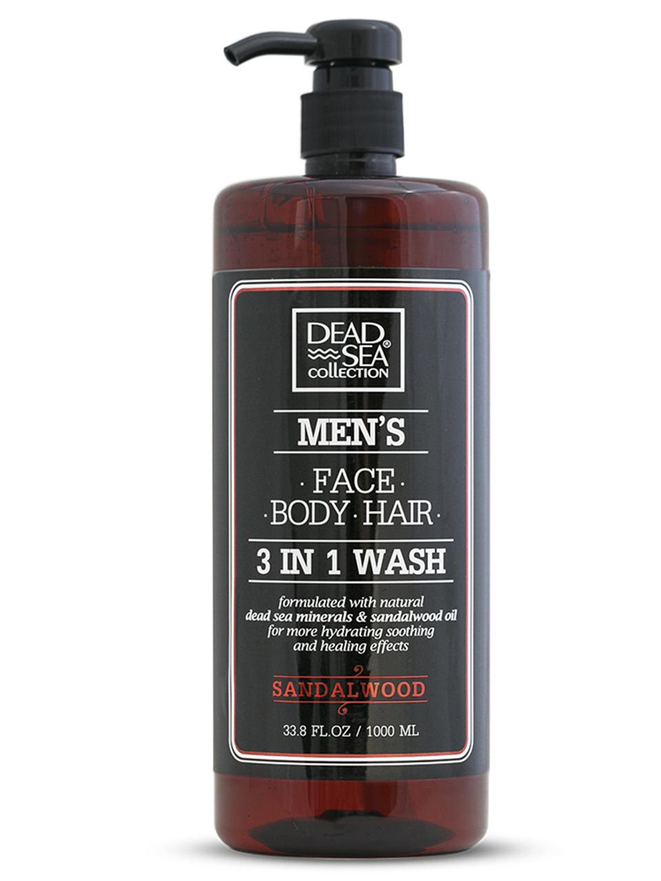 Гель для душа, волос и лица Dead Sea Collection Sandalwood для мужчин 3в1 1000 мл