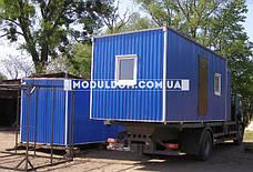 Бытовка строительная (6 х 2.4 м.), на основе цельно-сварного металлокаркаса., фото 3