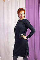 Платье-свитшот с капюшоном для беременных и кормящих мам HIGH HEELS MOM (серый, размер S), фото 1