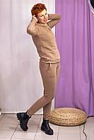 Тёплый костюм для беременных и кормящих мам HIGH HEELS MOM (светло-коричневый, размер S), фото 1