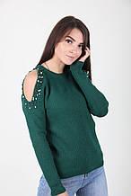 Зеленая кофта размер 44-48