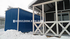 Вагончик, склад-раздевалка (12 х 2.5 м.) для спецодежды, на основе цельно-сварного металлокаркаса., фото 3