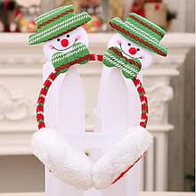 Новогодние теплые наушники со снеговиком 43814