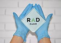 """Нитриловые перчатки синие без пудры 3,6 г/м²  (100 шт/уп.) """"SafeTouch Advanced Slim Blue"""""""