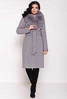Шикарное кашемировое пальто с натуральным мехом  Камила 8165, фото 1
