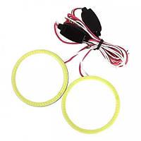 Светодиодные кольца ангельские глазки для автомобиля COB 90 мм (комплект 2шт)