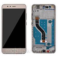 Дисплей (LCD) Huawei P10 Lite | WAS-LX1 | WAS-LX2 | WAS-LX3 с тачскрином и рамкой, золотой