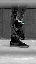 """Зимние кроссовки на меху Nike Blazer """"Черные"""", фото 2"""