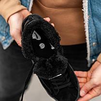 """Зимние кроссовки на меху Nike Blazer """"Черные"""", фото 3"""