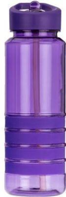 Бутылка с трубочкой 750 мл«SMILE» SBP-1, фиолетовая, BPA Free (Польша)