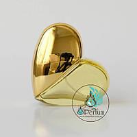 Флакон для парфюма 30 мл в форме сердца золотой