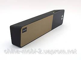Atlanfa AT7900 Bluetooth колонка з годинником soundbar 5W, FM і MP3, чорна з золотом, фото 2