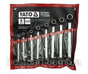 Набір накідних, гнутих  ключів 6-22 мм. YATO YT-0396