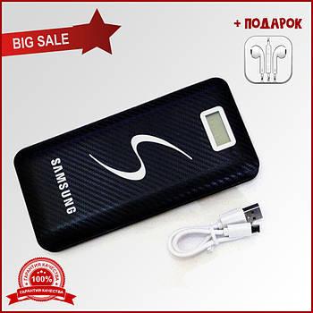 Power Bank Samsung 40000 mAh black 3 порта. Портативный аккумулятор черный