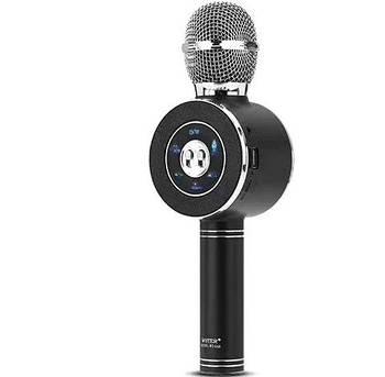 Беспроводной микрофон караоке WSTER WS-668 S Bluetooth USB Черный Original