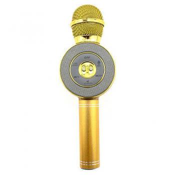 Беспроводной микрофон караоке WSTER WS-668 S Bluetooth USB Золотой Original