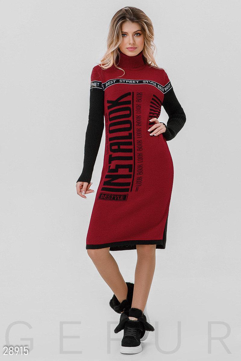 Молодіжне плаття на осінь-зиму 44-48 (в кольорах)