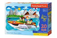 """Пазлы 20 MAXI элементов """"Путешествия на яхте в Сиднее"""", C-02375   Castorland"""