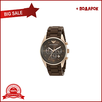 Emporio Armani Sports Watch коричневый ремешок