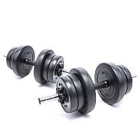Гантели композитные наборные Elitum 2х11 кг для дома и спортзала