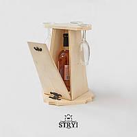 Заготовка шкатулки под вино и бокалы для резьбы по дереву