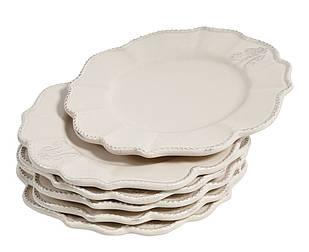 Комплект тарілок білий керамічний 6шт