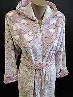 Махровый халат на молнии женский, фото 1