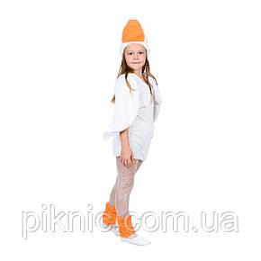 Костюм Гуся для детей 3-6 лет. Детский новогодний карнавальный Гусенок Белый 342, фото 2