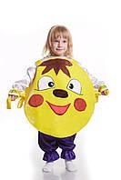Детский карнавальный костюм для детей «Колобок» 110-120 см, желтый