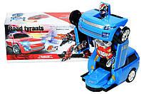 Трансформер робот машина Road Tyrants | Автобот трансформер со световыми и звуковыми эффектами СИНИЙ